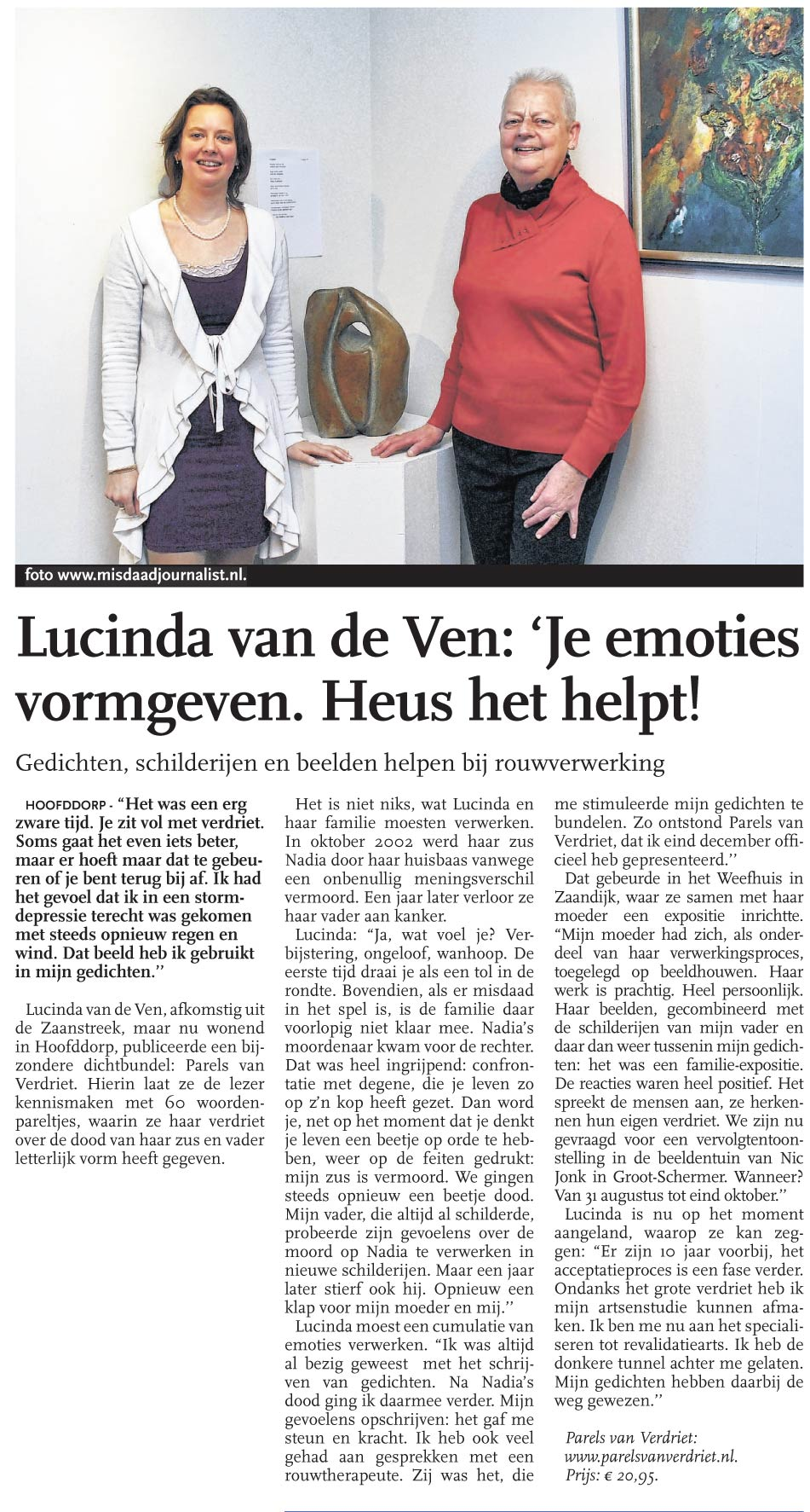 Interview Hoofddorpse Courant 4 april 2013