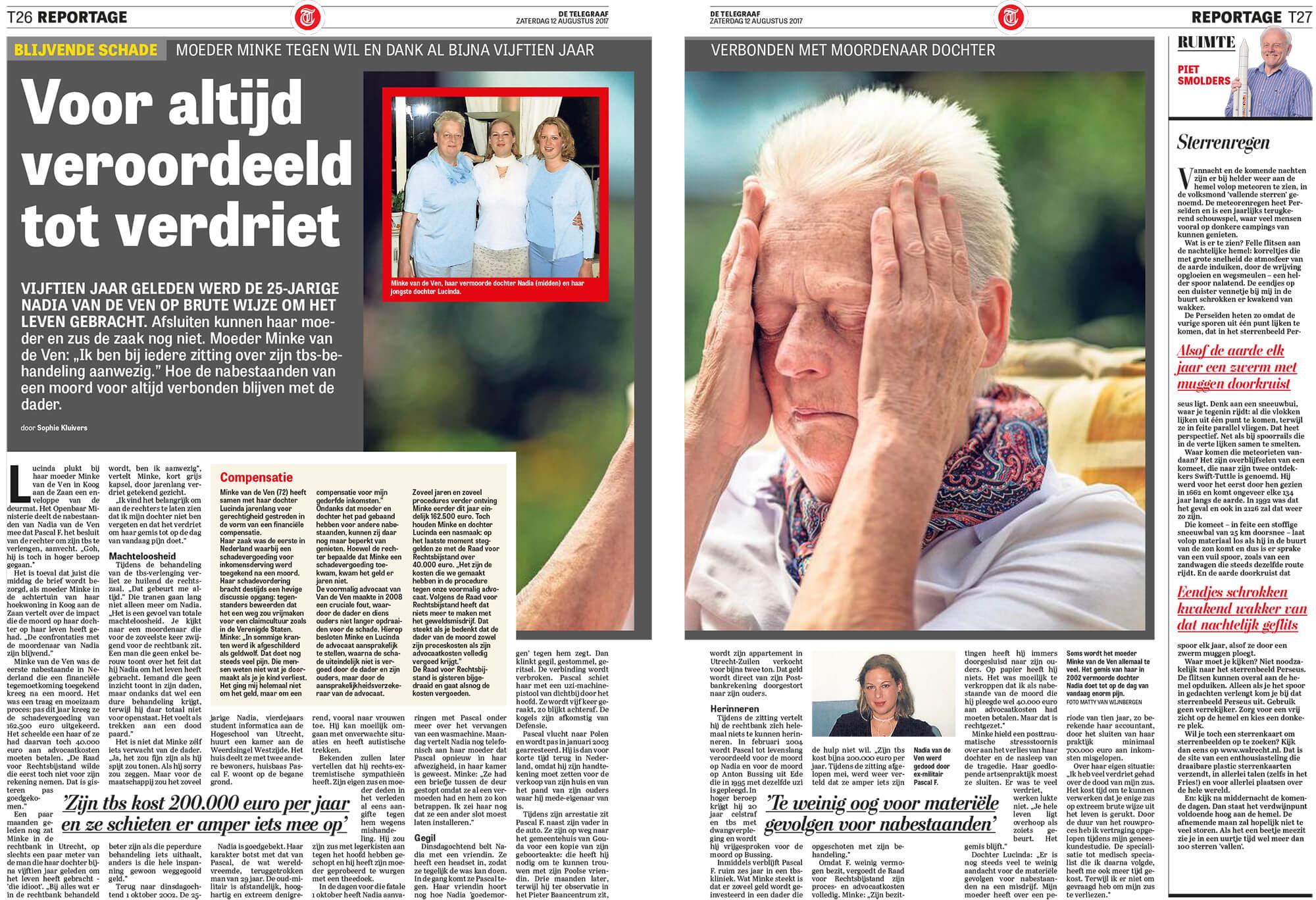 Telegraaf interview Minke en Lucinda van de Ven augustus 2017